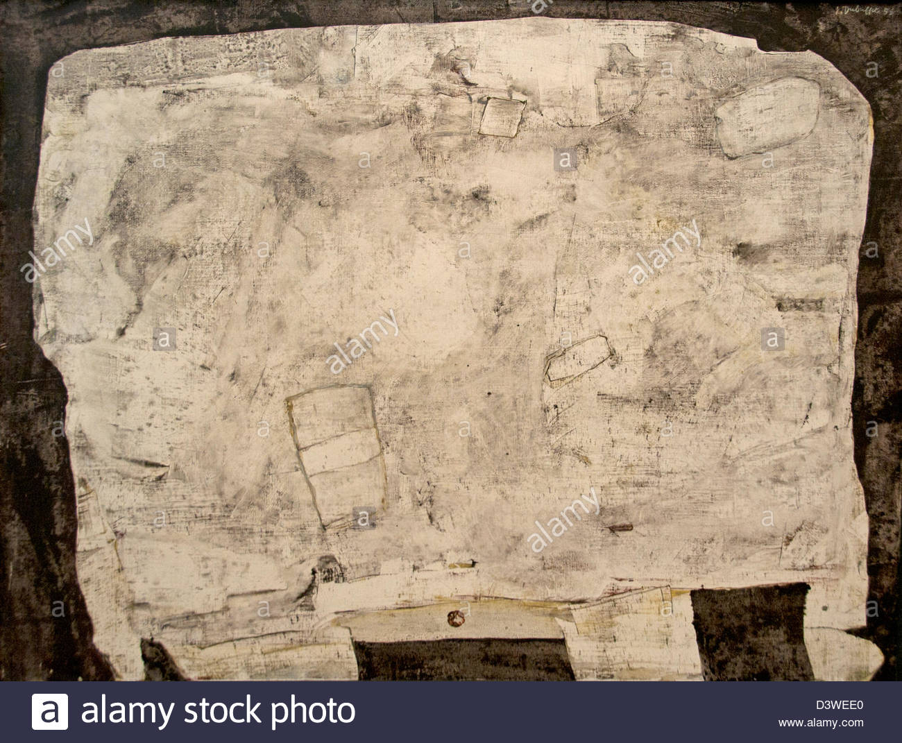 Avec tiroir table 1956 Jean Dubuffet Français France 1901-1985 Photo Stock