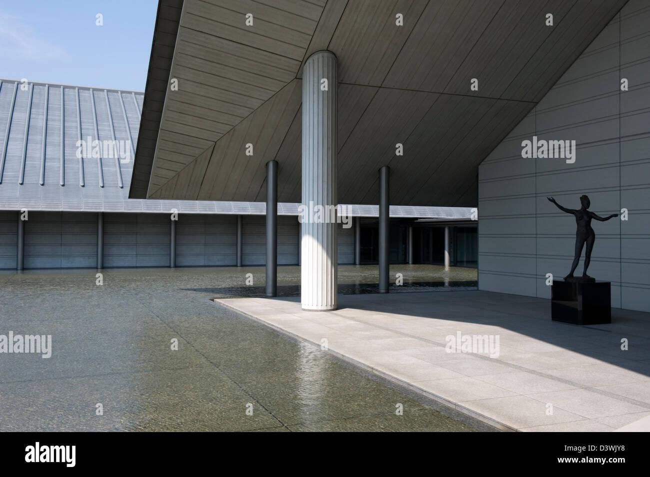 Sagawa Art Museum à Moriyama est un bâtiment contemporain avec permanente et temporaire, des expositions de peintures Banque D'Images