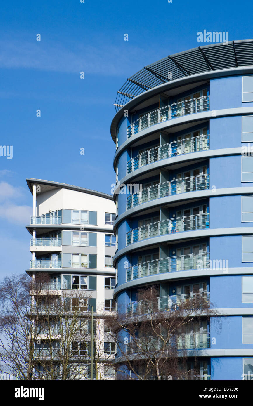 Des appartements modernes. Woking, Surrey, UK. Photo Stock