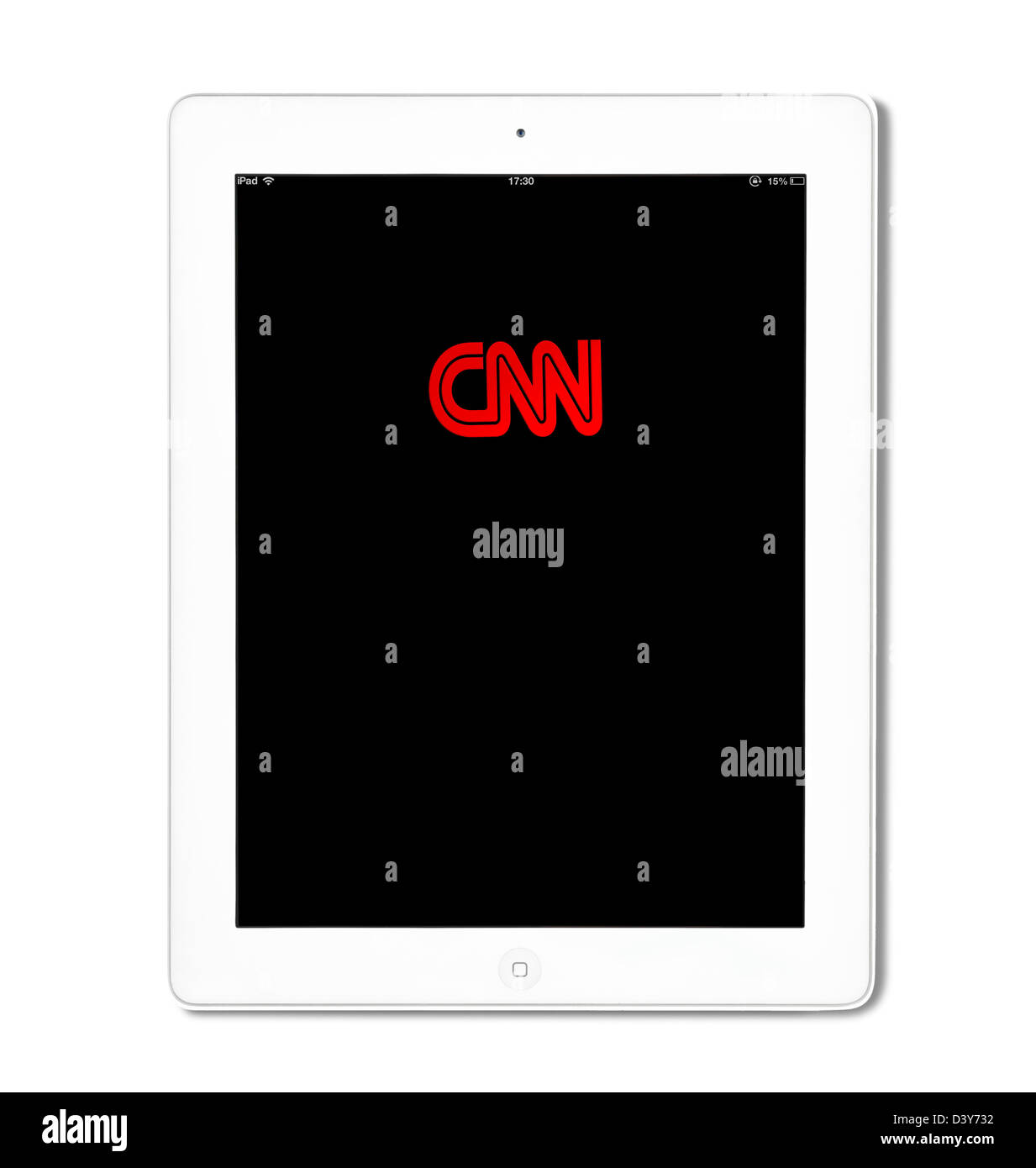 CNN iPad App sur un Apple iPad 4e génération Photo Stock