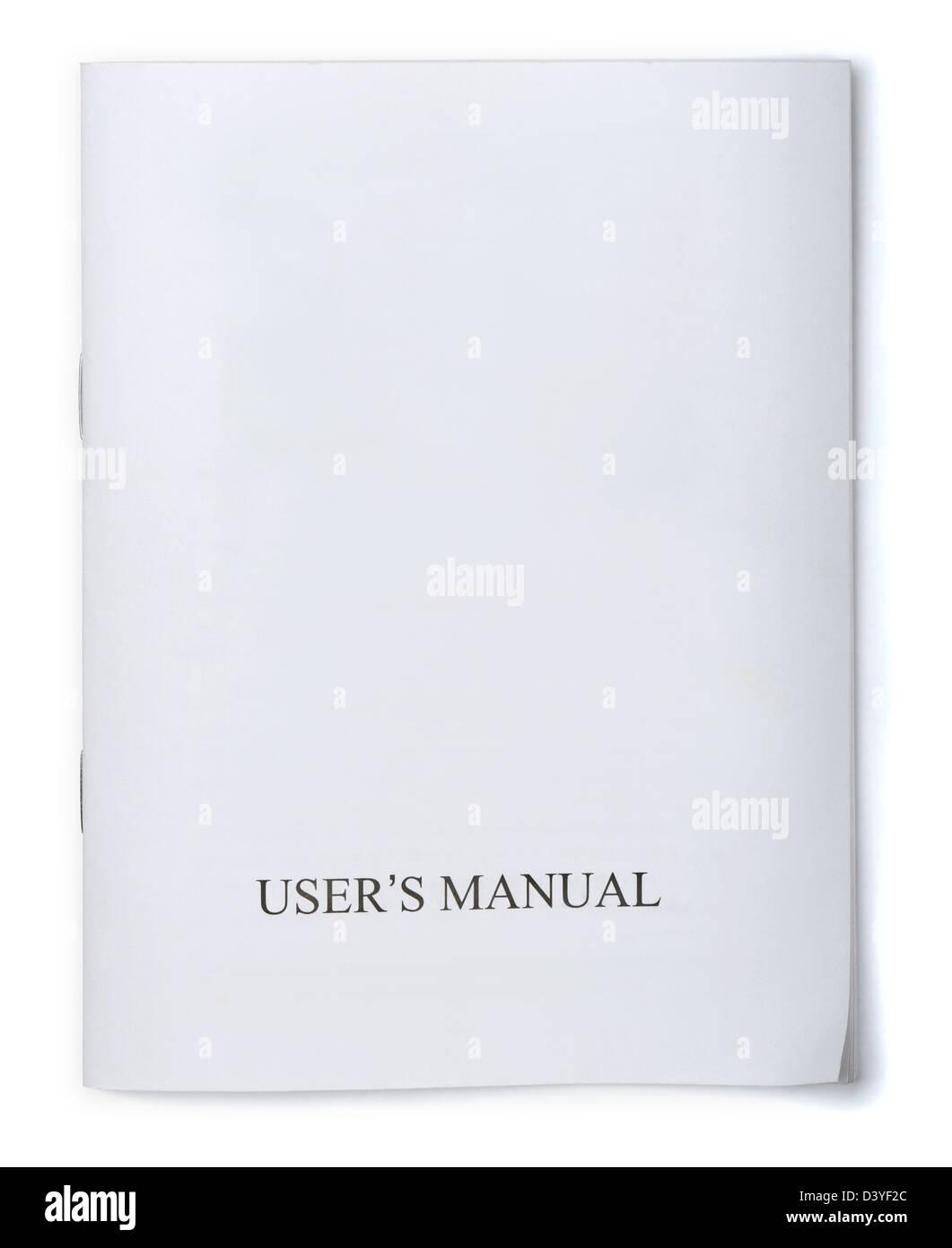 Brochure manuel utilisateurs blanc isolated on white Photo Stock