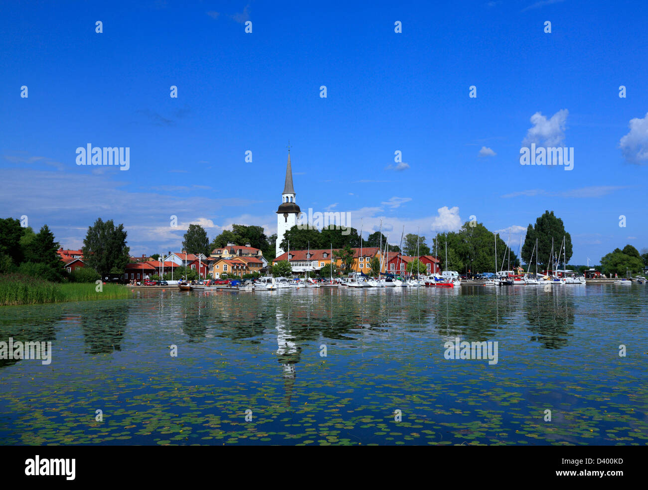 Lac à Mariefred près de Stockholm, Suède, Scandinavie Banque D'Images