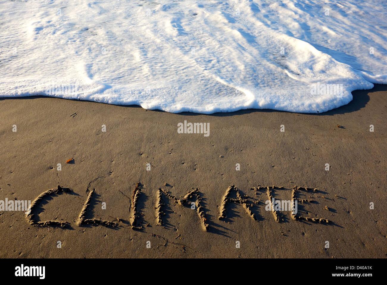 Le CHANGEMENT CLIMATIQUE, LA HAUSSE DES OCÉANS Photo Stock