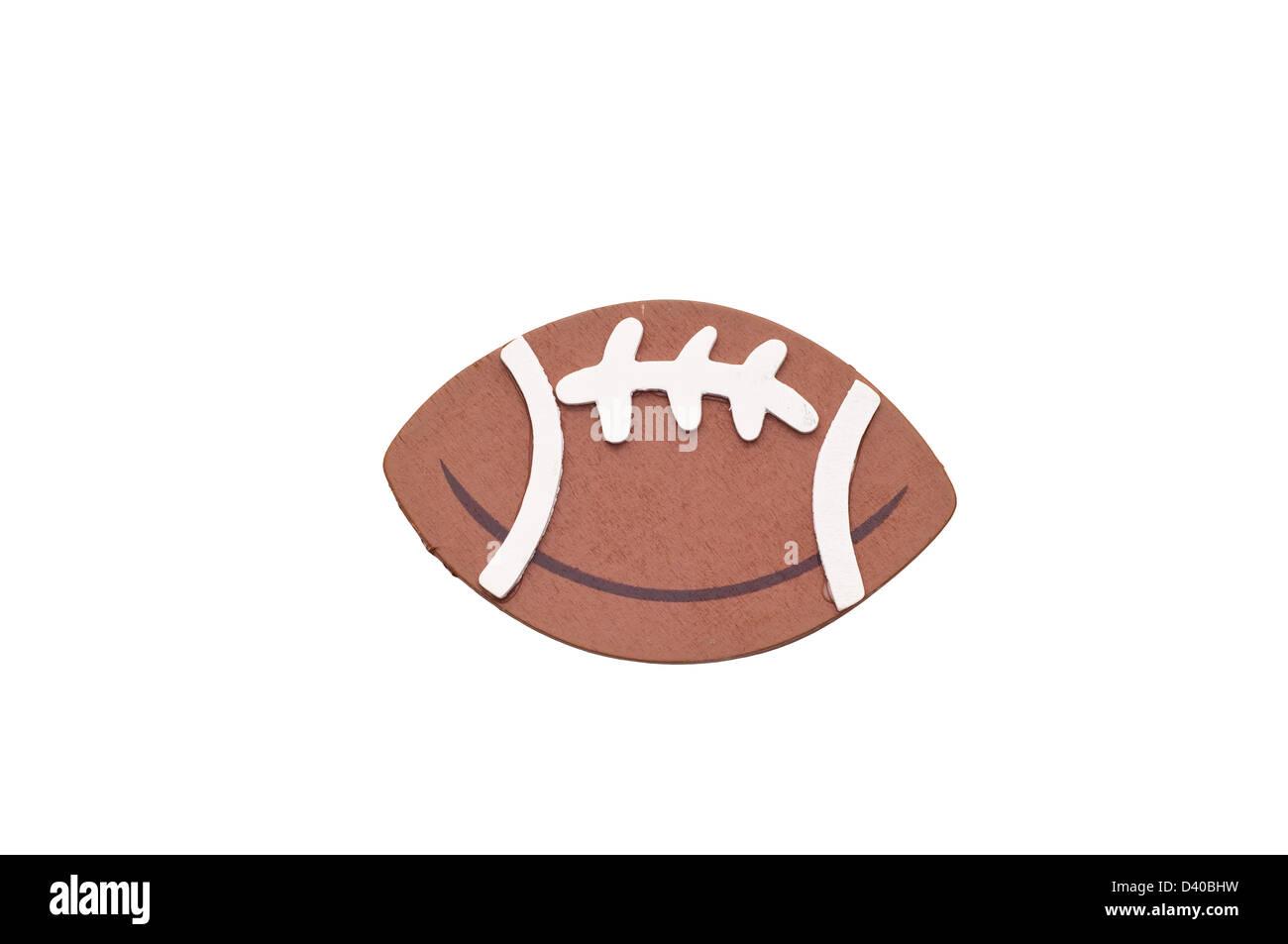 Football américain 3d isolé sur fond blanc. Photo Stock