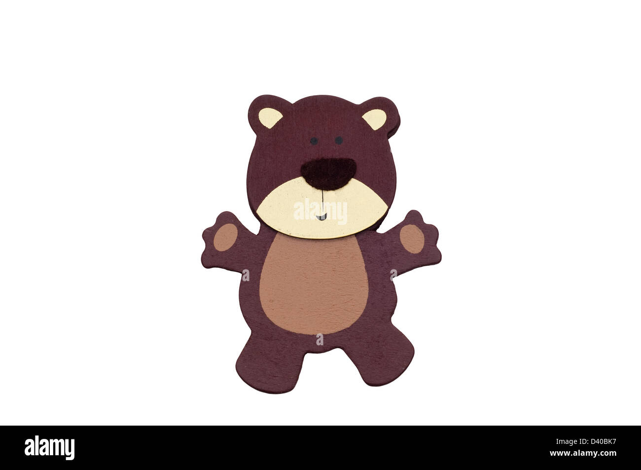 3d'ours brun isolé sur blanc. Photo Stock