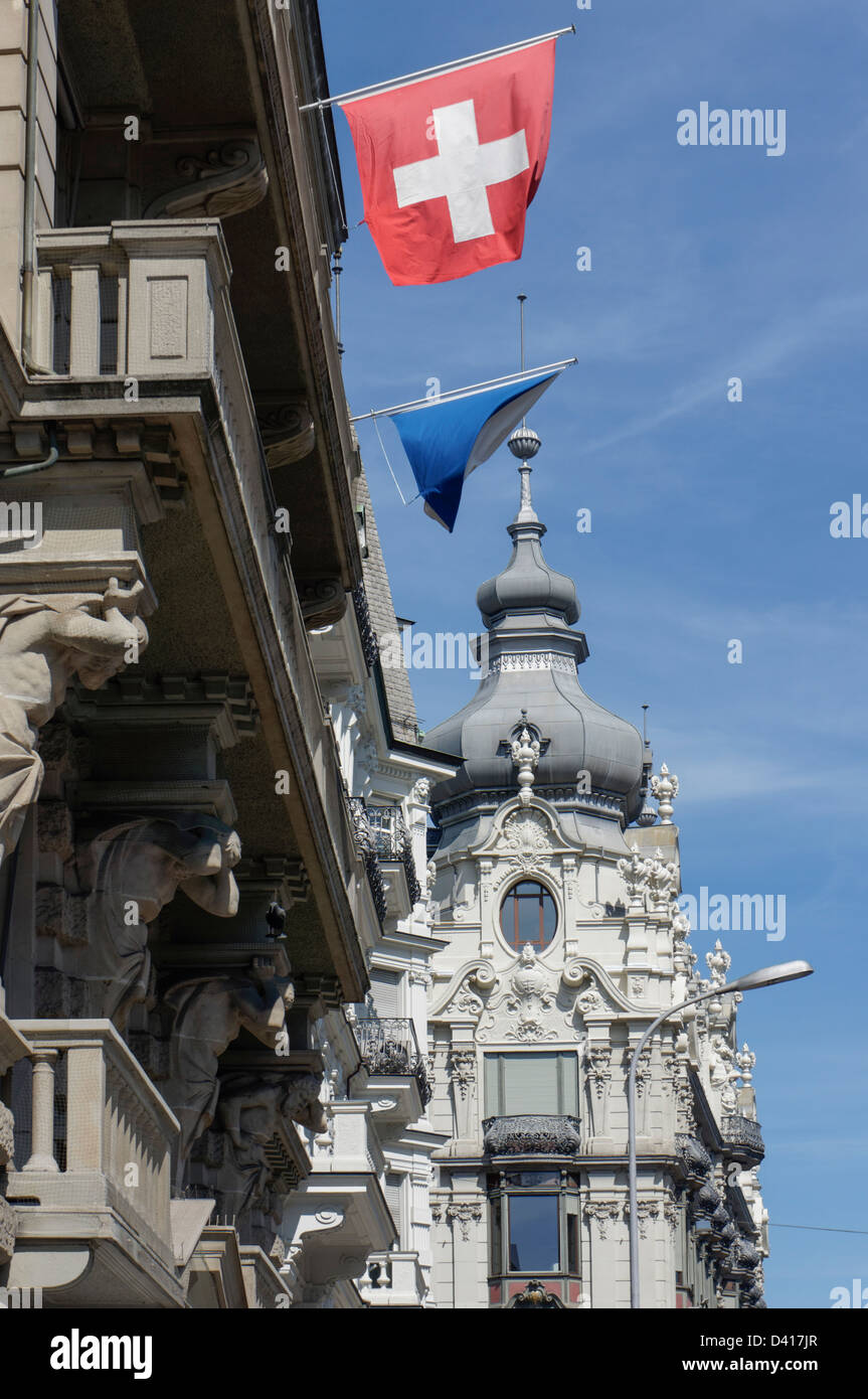 Monopol , néo baroque Architecture, Zurich, Suisse Photo Stock
