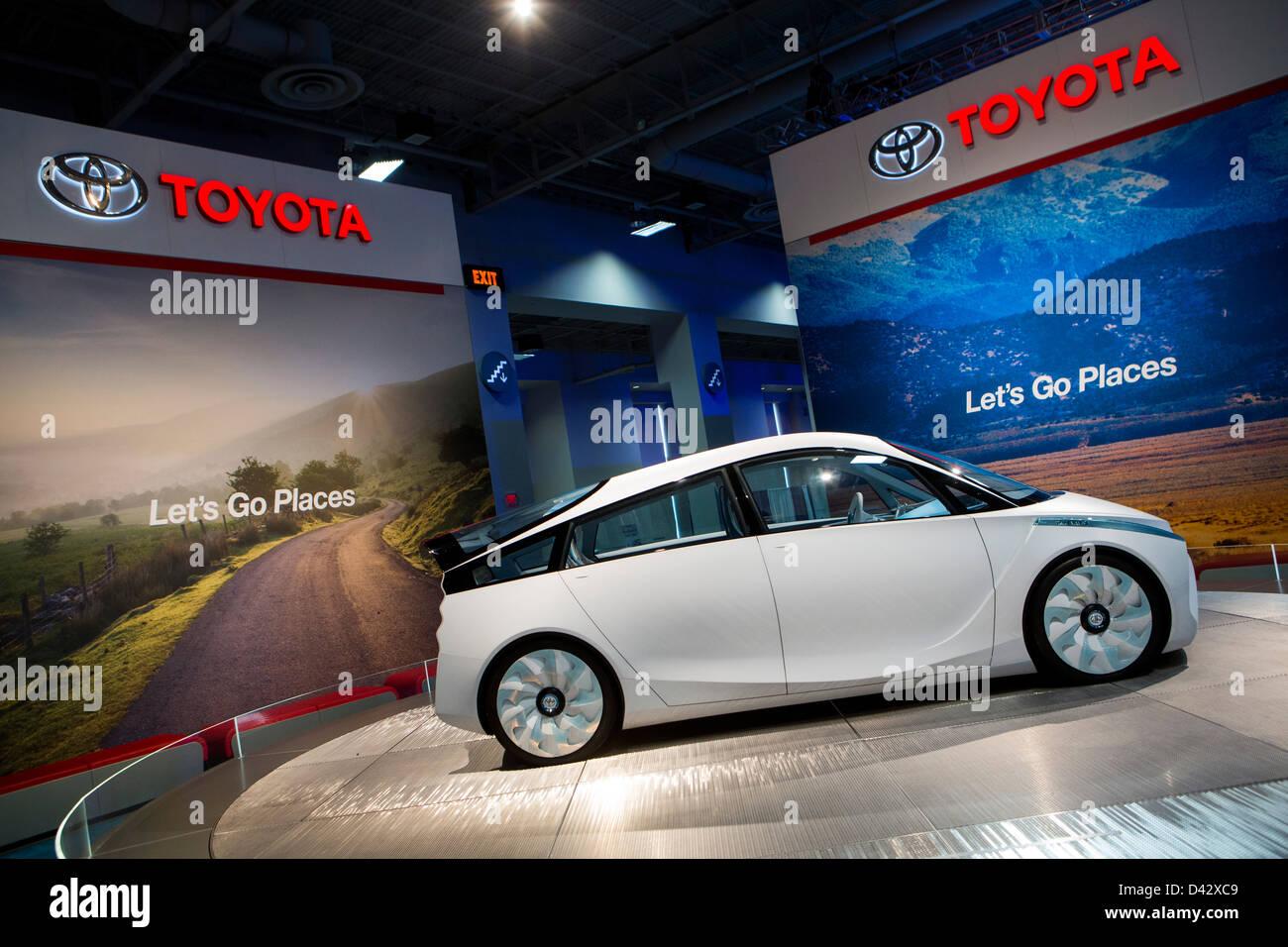 Une Toyota FT-Bh Concept Car hybride sur l'affichage à l'édition 2013 Washington, DC Auto Show. Photo Stock