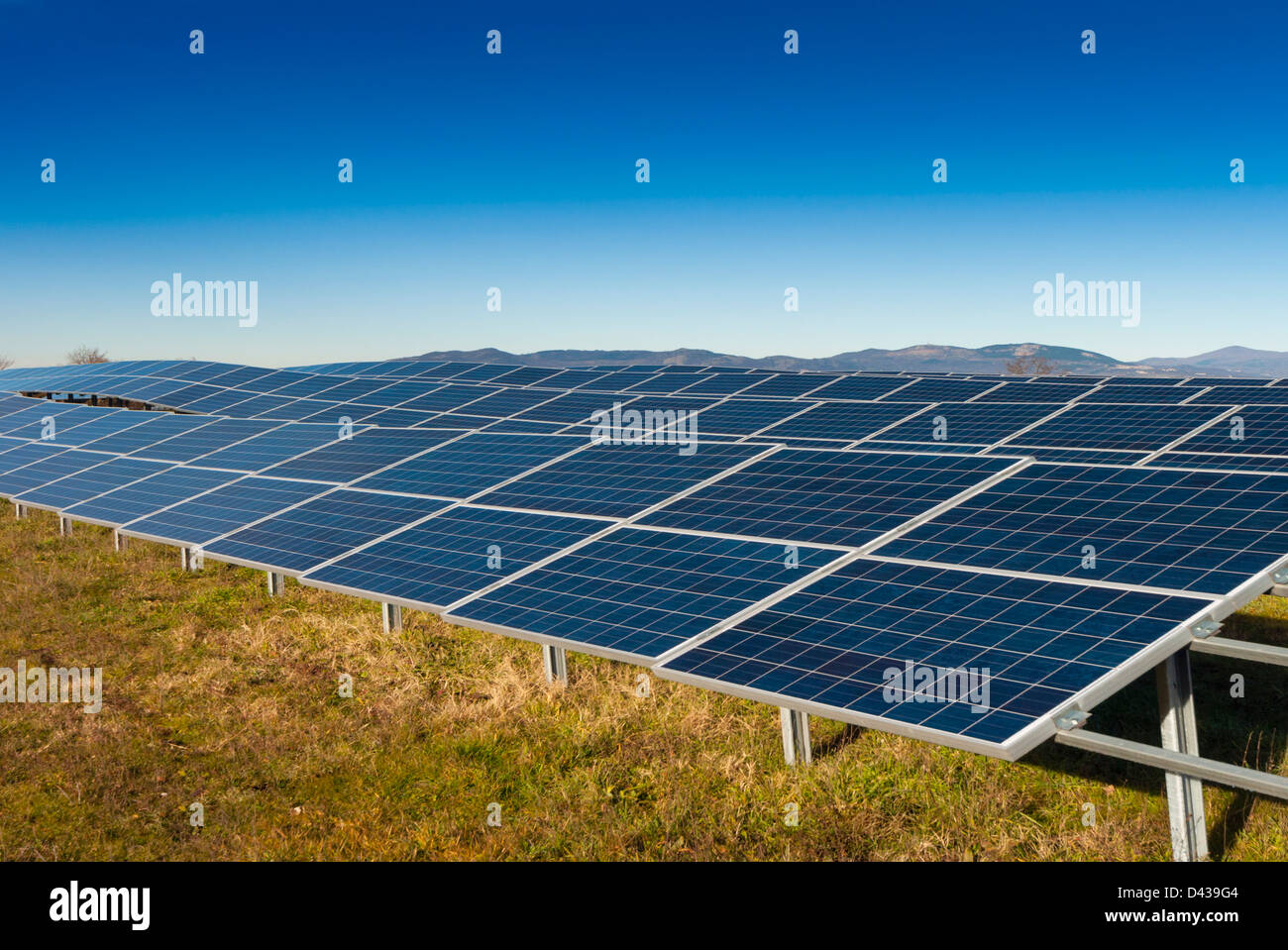 Panneau solaire de production d'électricité Banque D'Images