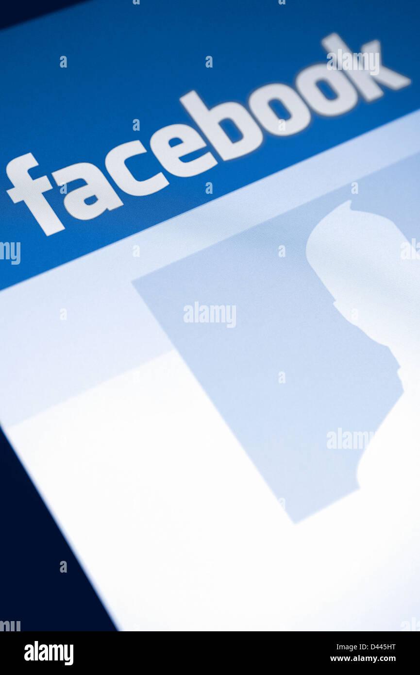 Logo du site Facebook Photo Stock
