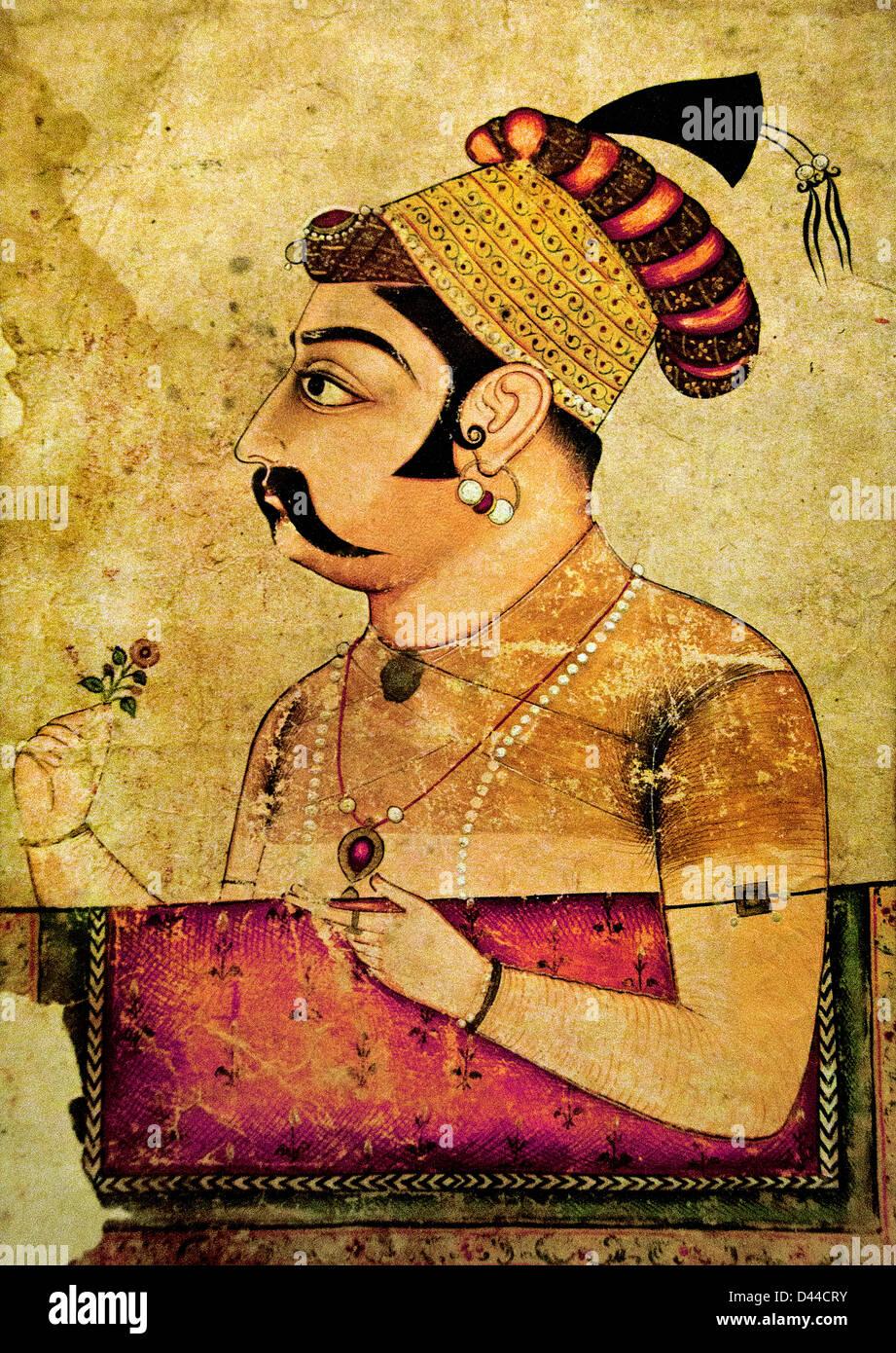 Portrait de Rao Amar Singh 17e siècle Naguar Rajasthan Rajasthan Inde Banque D'Images