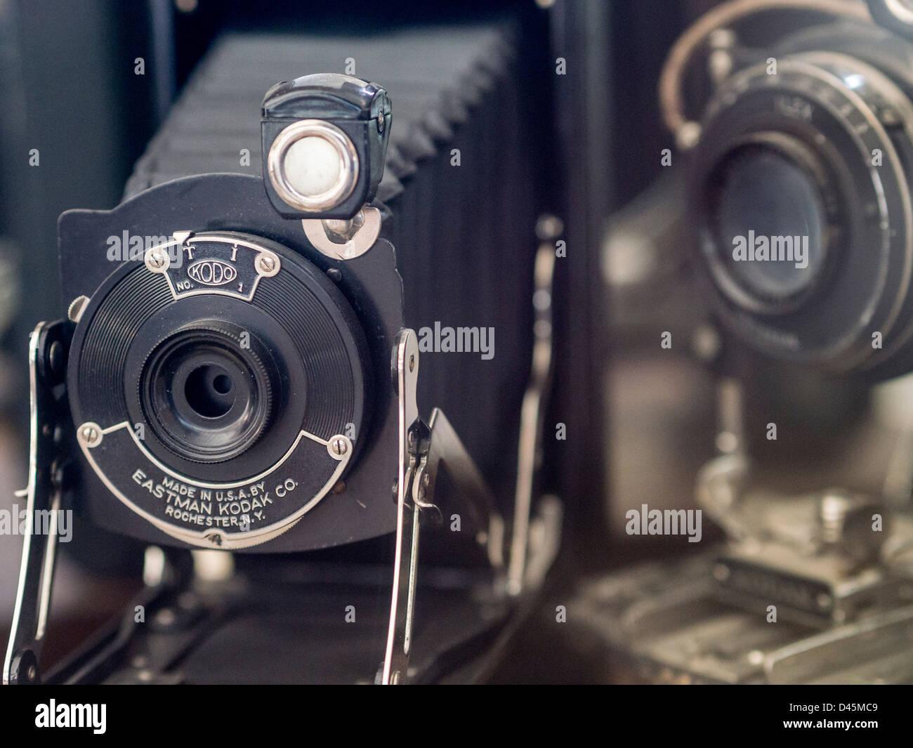 Appareil photo Kodak Kodo No 1. Début de l'Eastman Kodak folding. Photo Stock