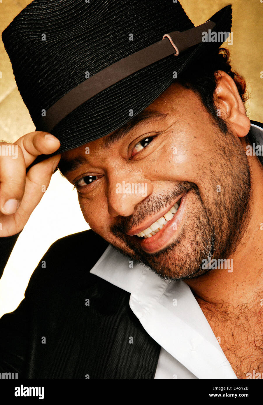 Angolais Paulo Flores celebrity singer Photo Stock