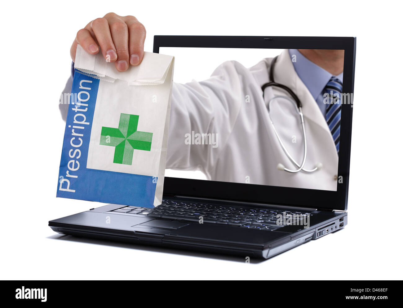 Pharmacie sur Internet Photo Stock
