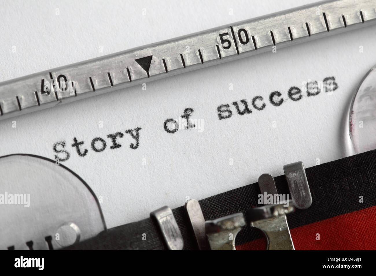 Histoire de succès Banque D'Images