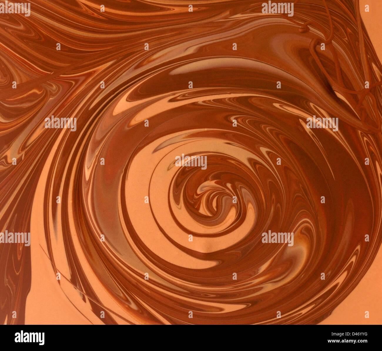 tourbillon au chocolat Photo Stock