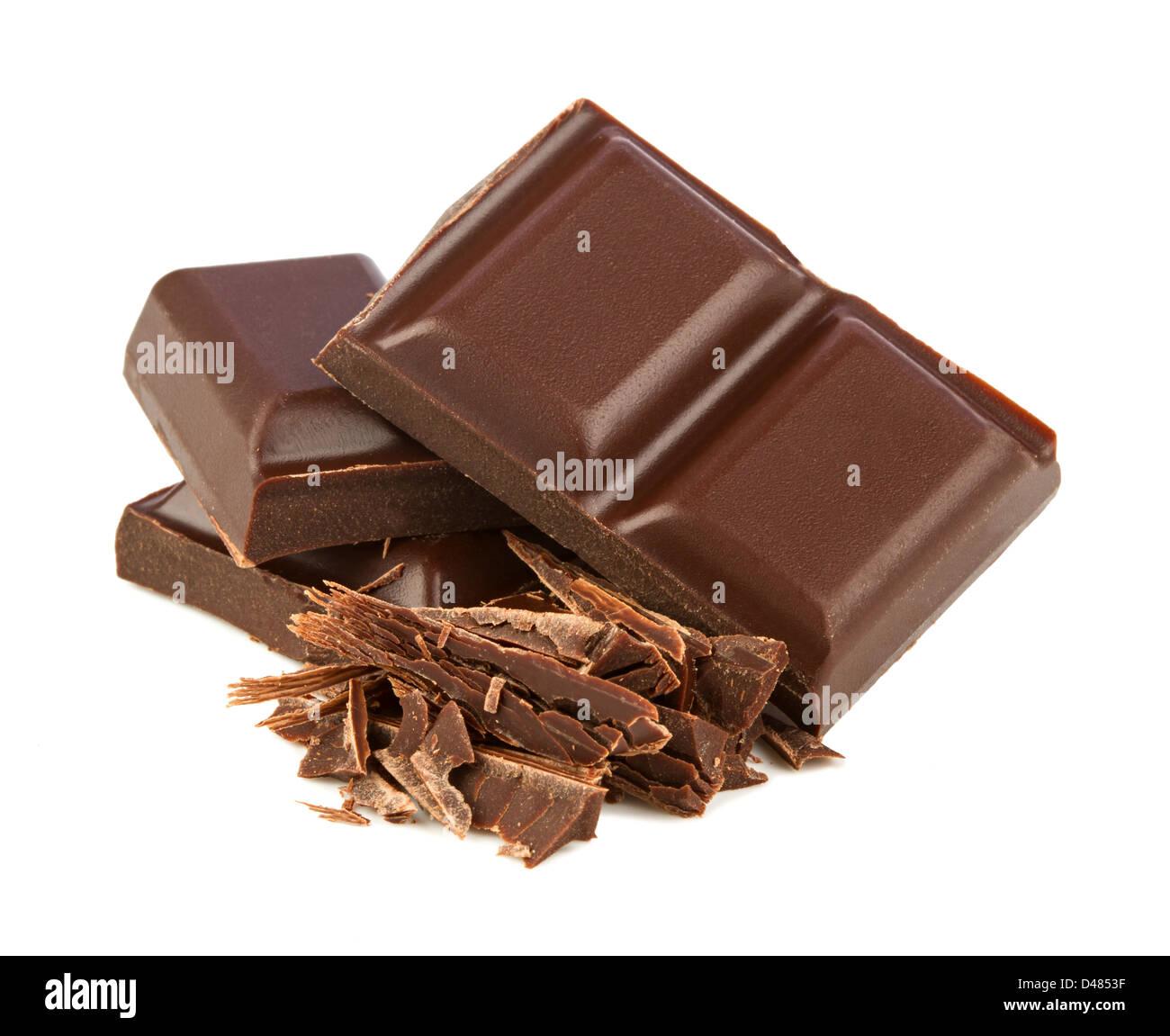 Pile de chocolat noir Photo Stock