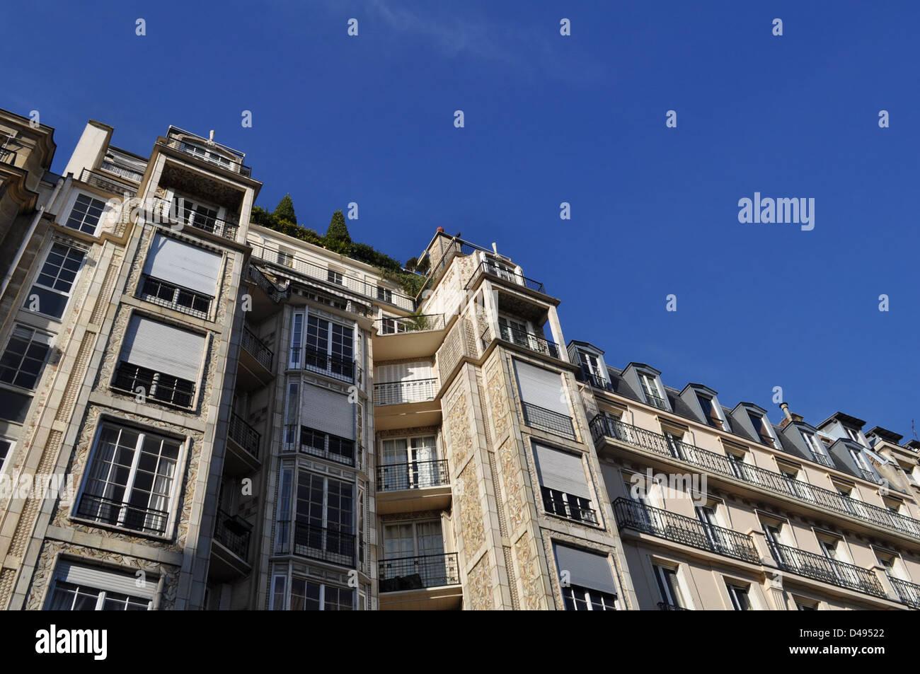Auguste Perret, architecte: 25 bis rue Franklin apartment building, paris 1903-1904 Banque D'Images