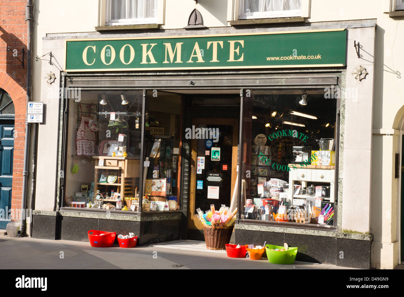Hereford, cuisine indépendante une Cookmate shop. Photo Stock