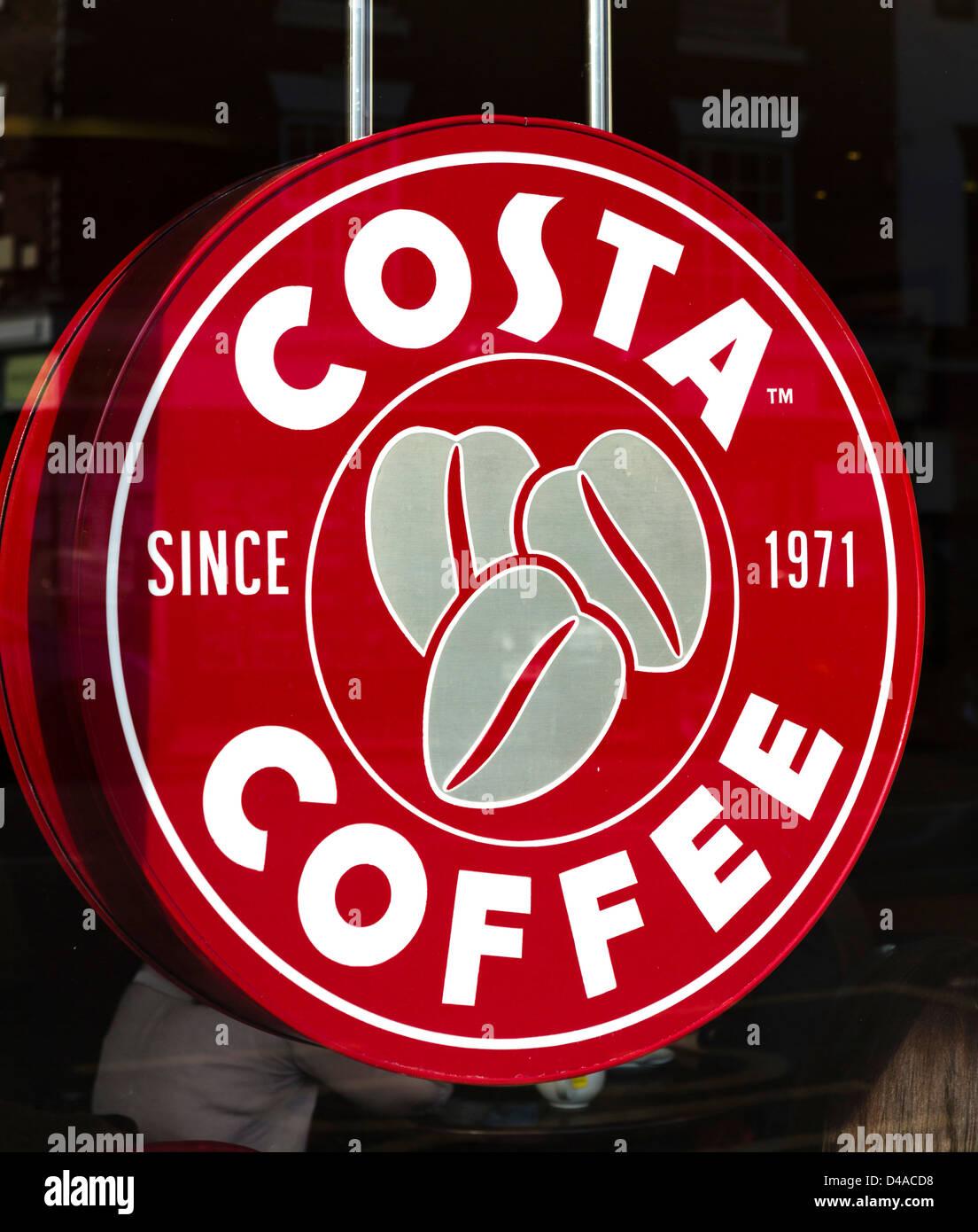 Café Costa, UK Photo Stock