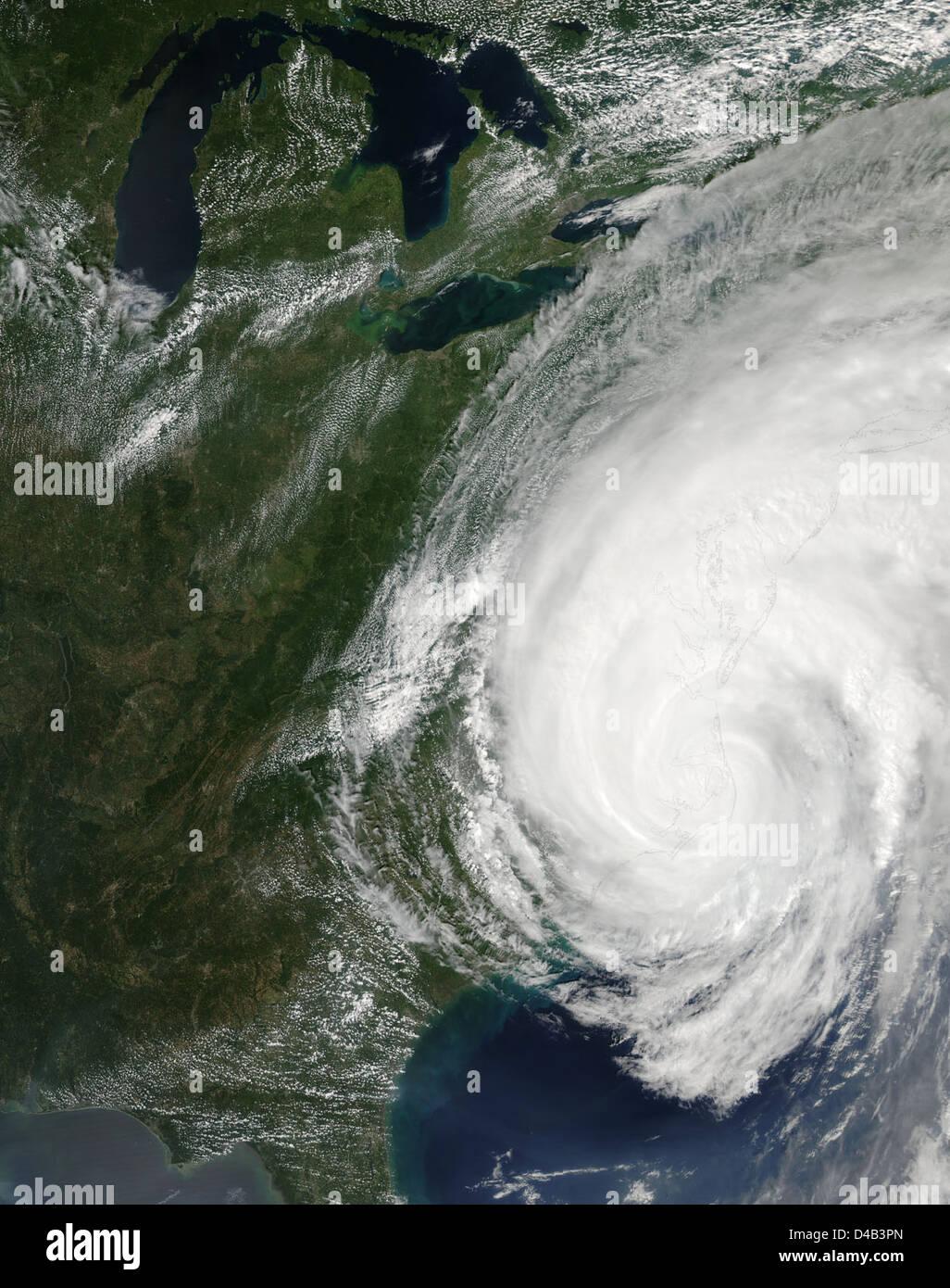 L'ouragan Irene sur la côte est des États-Unis Photo Stock