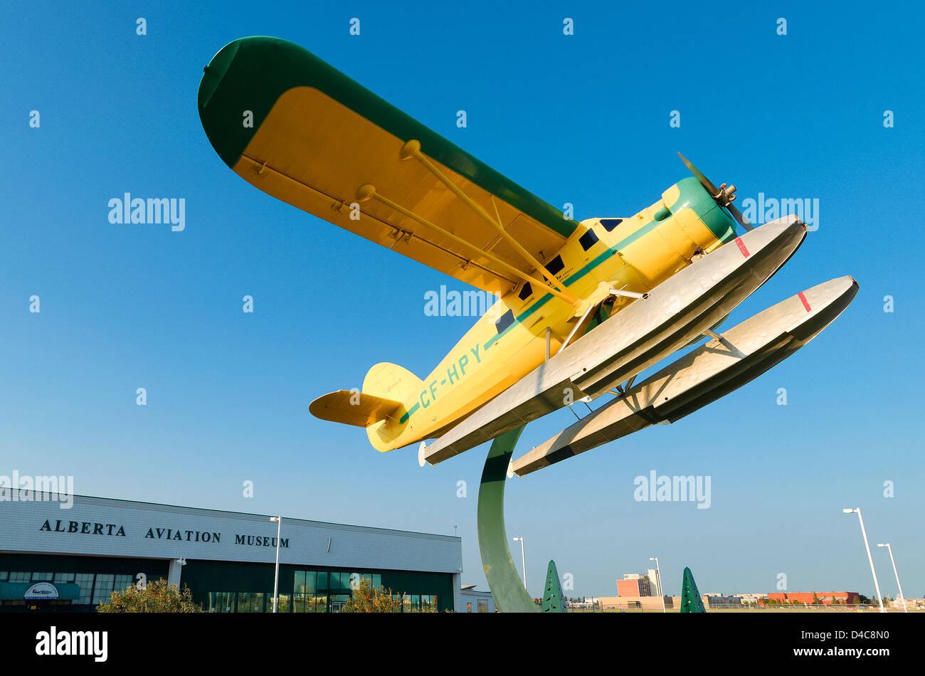 En dehors d'hydravion Musée de l'aviation de l'Alberta, Edmonton, Alberta, Canada Photo Stock