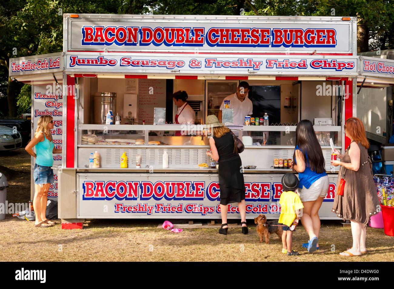 Fast food burger van, UK Photo Stock