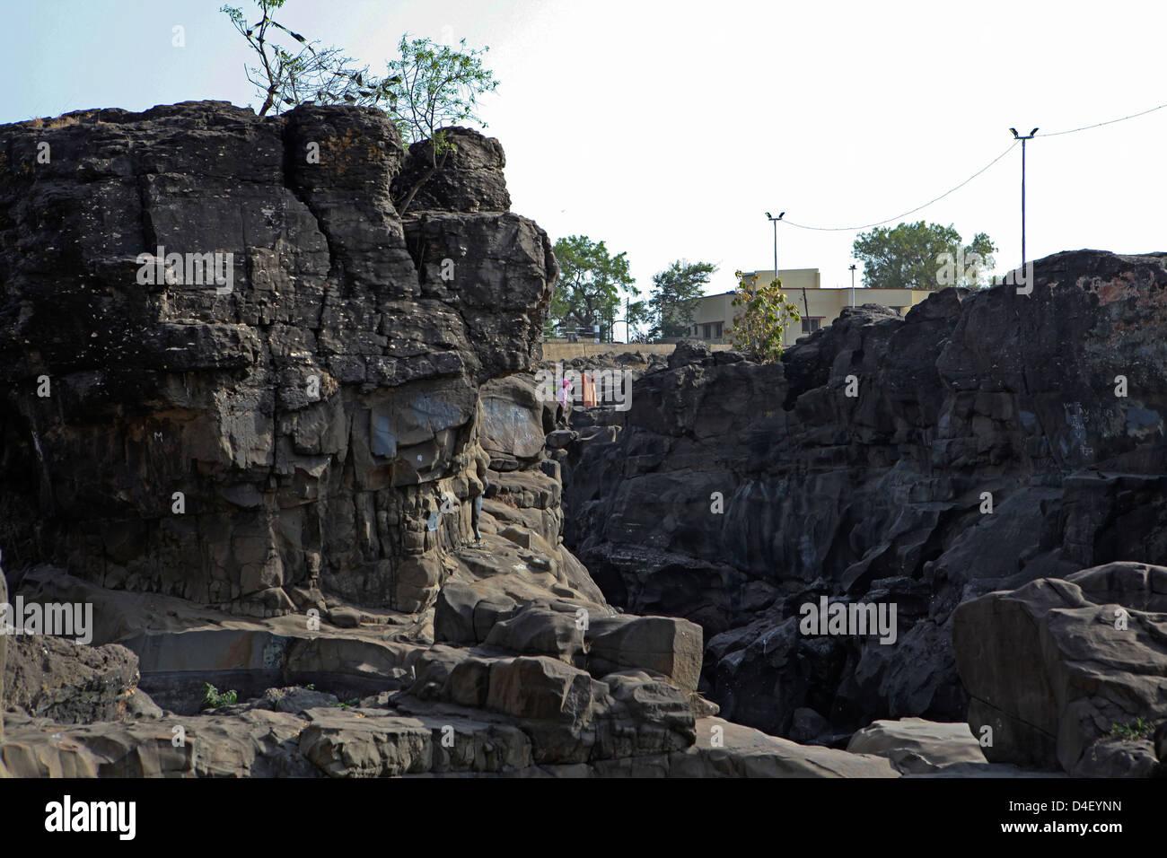 L'Inde, Maharashtra, Pune rural landscape Banque D'Images
