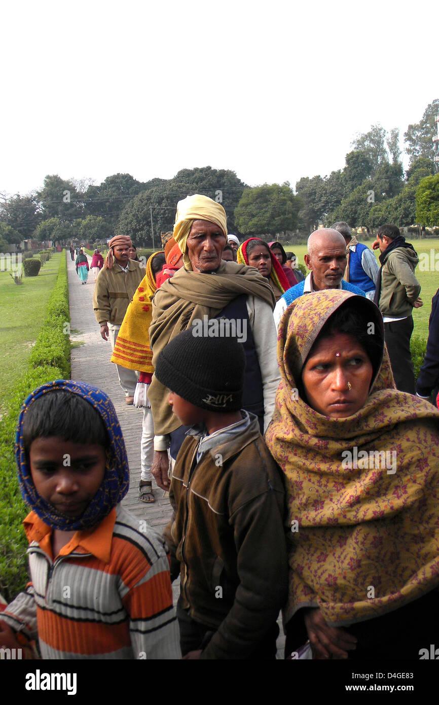L'Inde, le Bihar, Nalanda, personnes Photo Stock