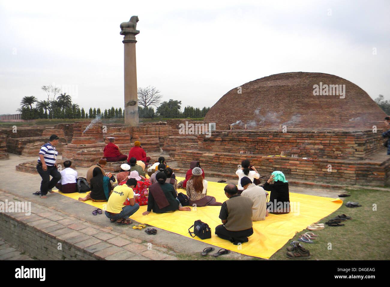 L'Inde, le Bihar, le temple Kolhua Khushinagar, Photo Stock