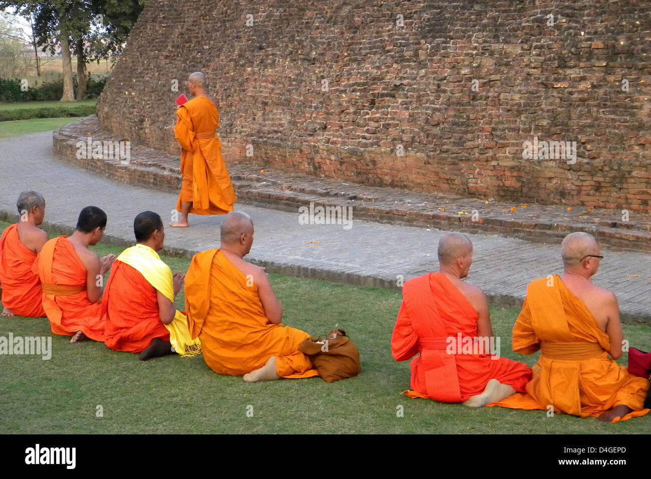 L'Inde, le Bihar, Shravasti temple Photo Stock