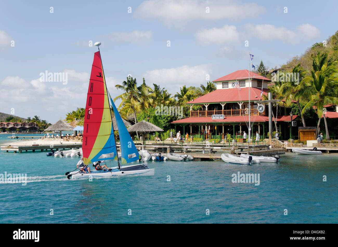 Bitter End Yacht Club, l'île de Virgin Gorda, îles Vierges britanniques, Antilles, Caraïbes Photo Stock