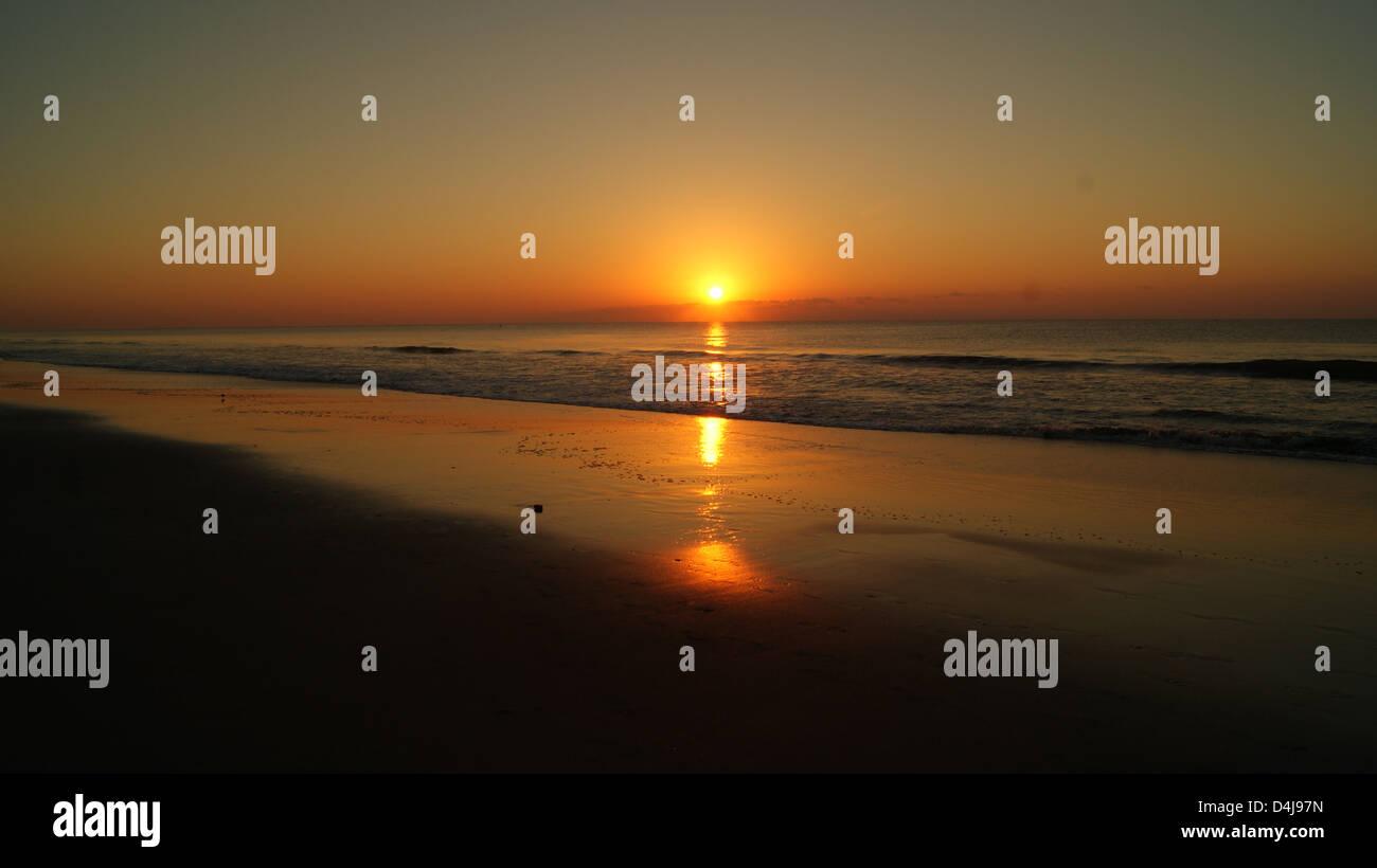 Lever du soleil à Myrtle Beach Banque D'Images