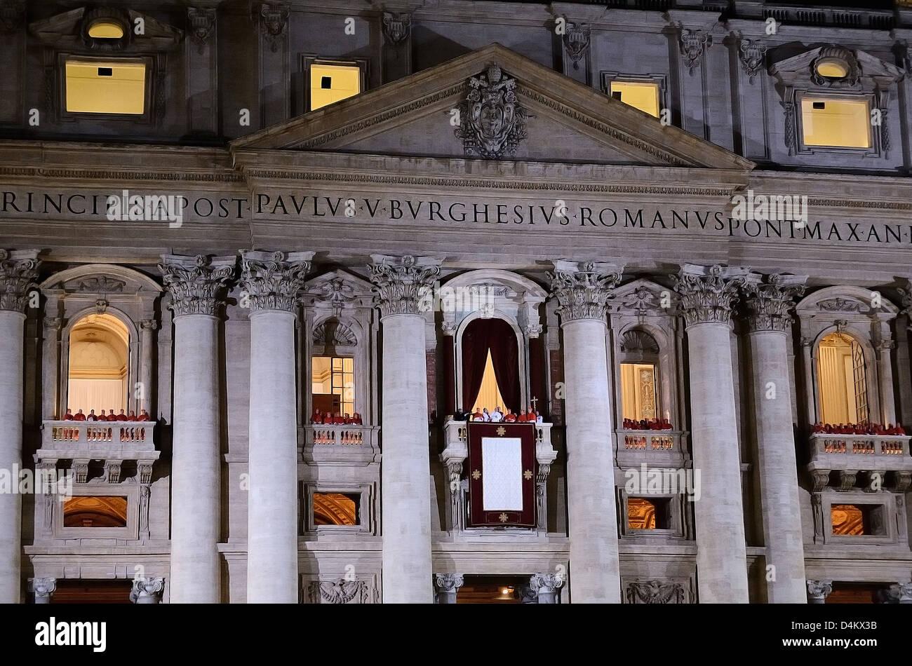 Papa Francesco roms elezione 13.03.2013 San Pietro par Andrea quercioli Photo Stock