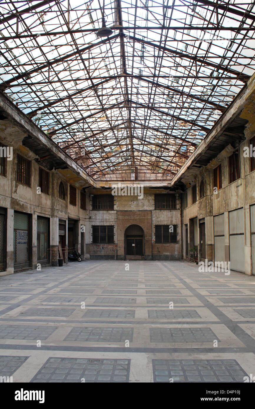 Hall abandonné à Palerme Photo Stock