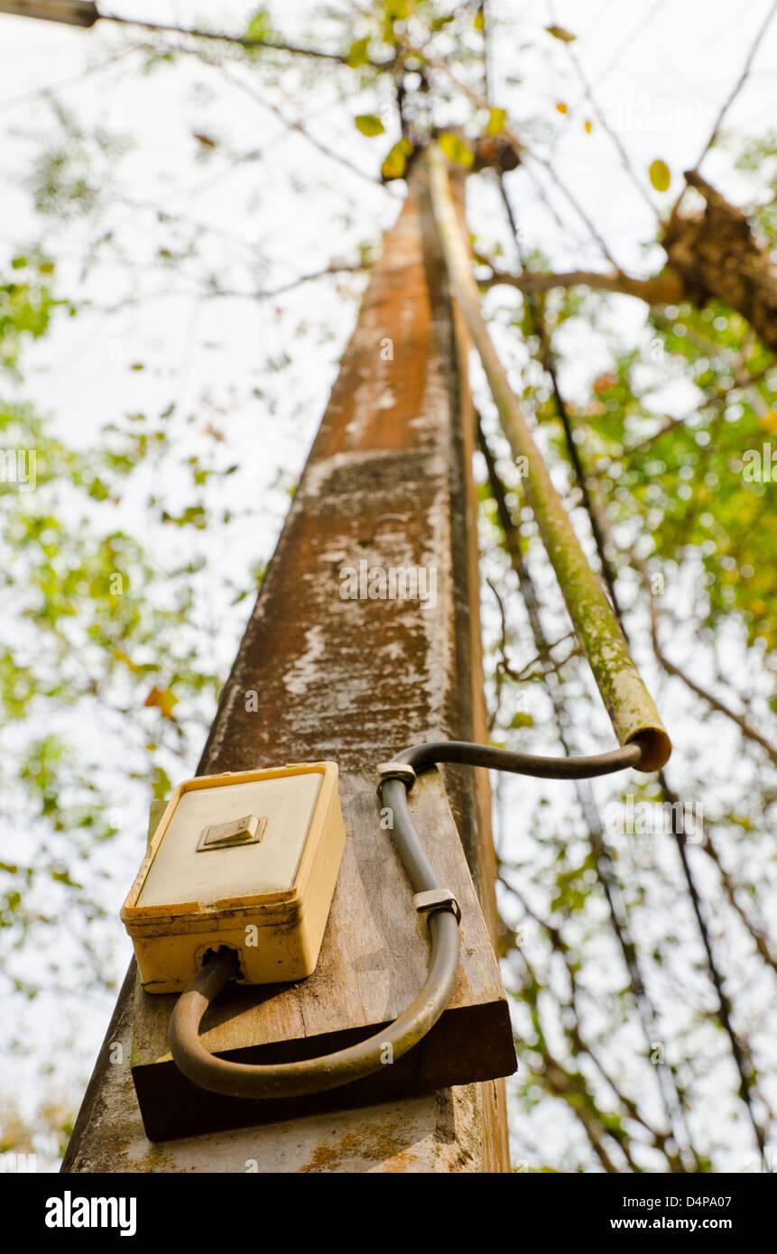 Pôle lumière interrupteur Photo Stock