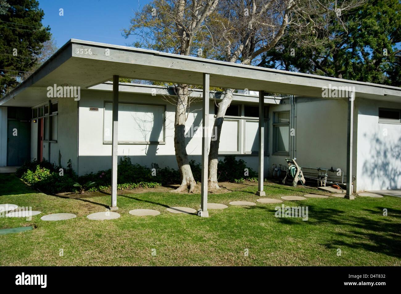 Maison de l'étude de cas des années 1960, le milieu du siècle, l'architecture moderne dans Photo Stock