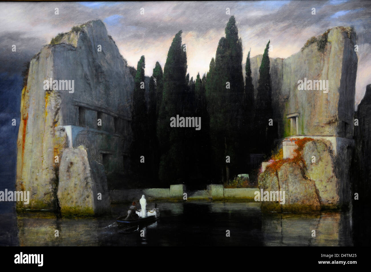 "Arnold Böcklin 'l'île des morts"" 1883 Photo Stock"