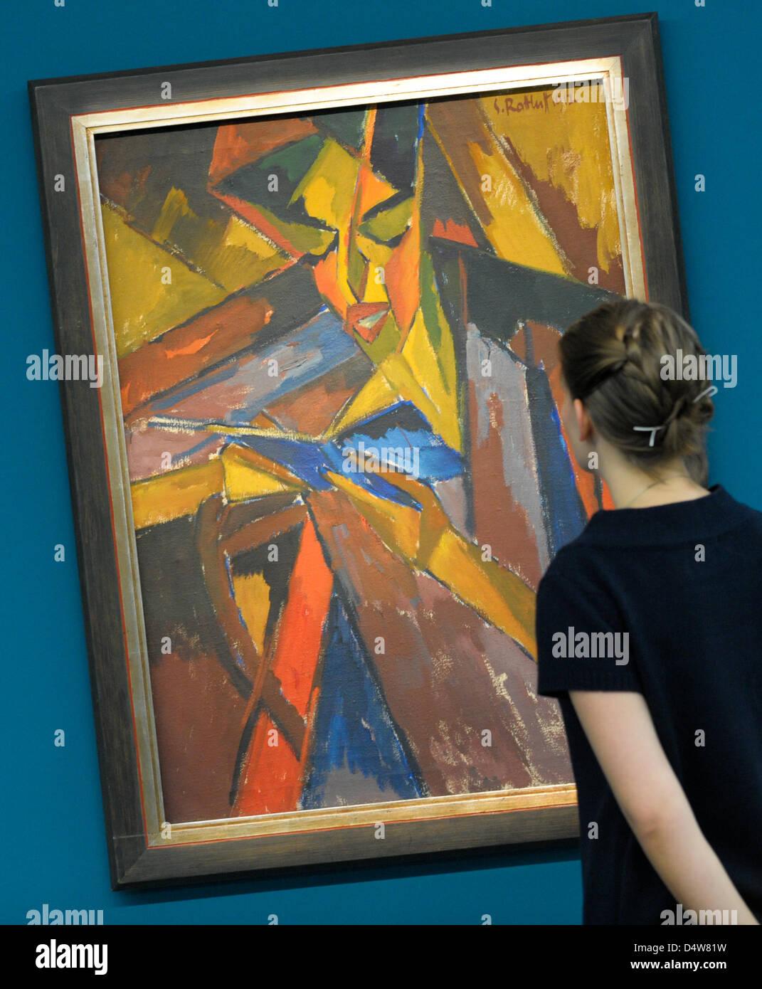 De Peintre D'un Yeux Femme Tableau D'une Les Expressionniste 3L4Aj5Rq