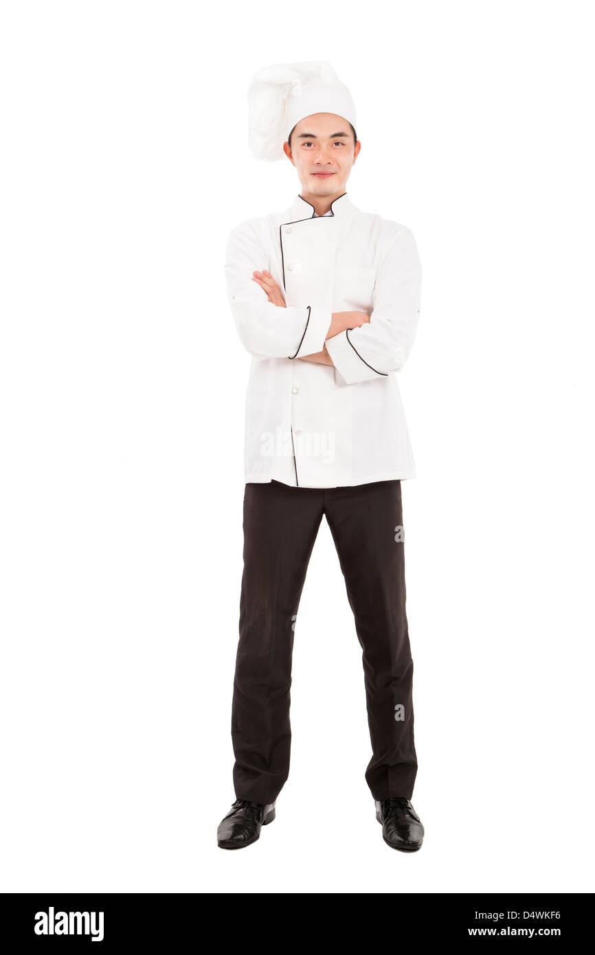 Happy chef isolated on white Photo Stock