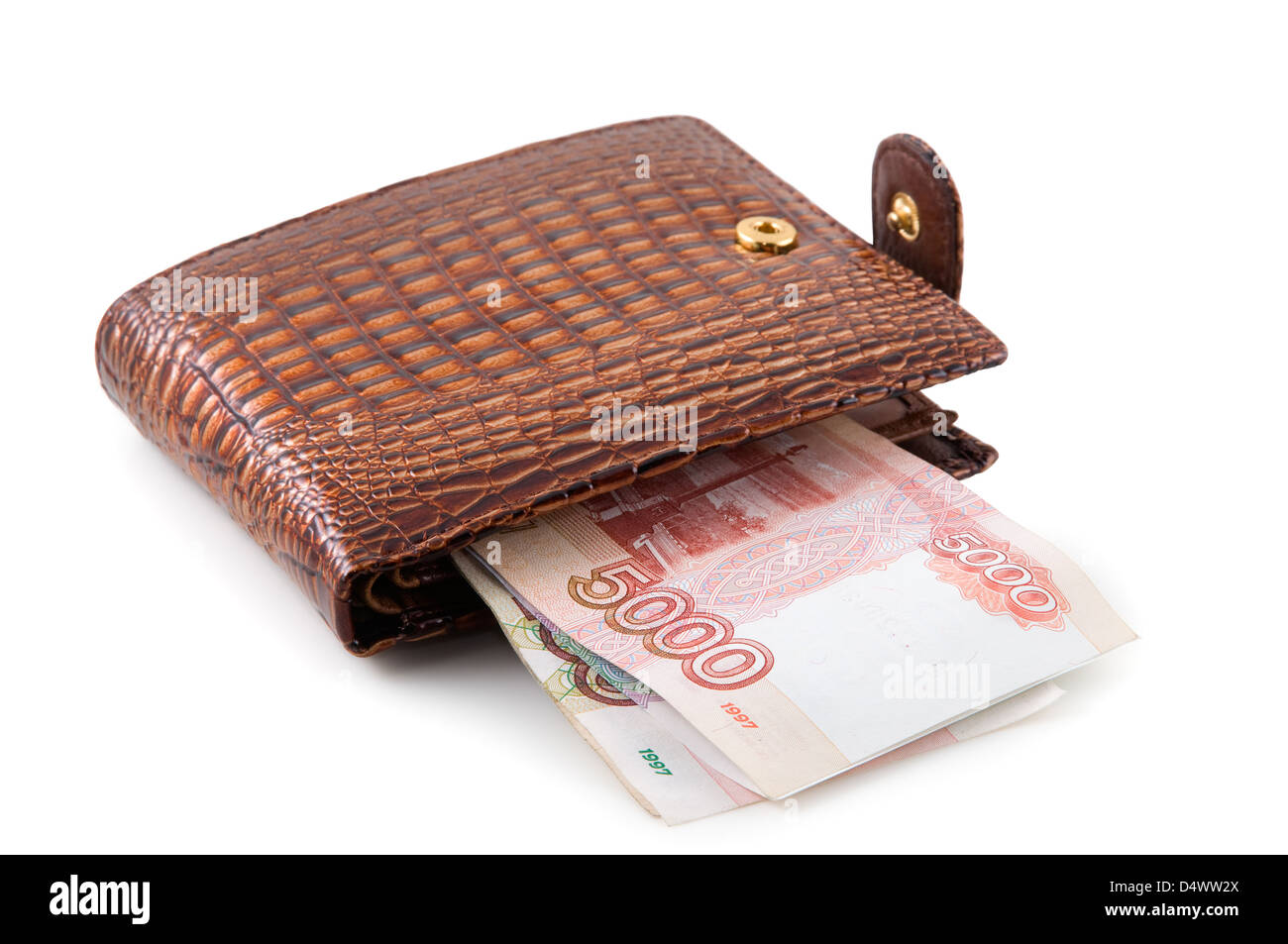 Le sac à main marron est photographié sur le close-up Photo Stock