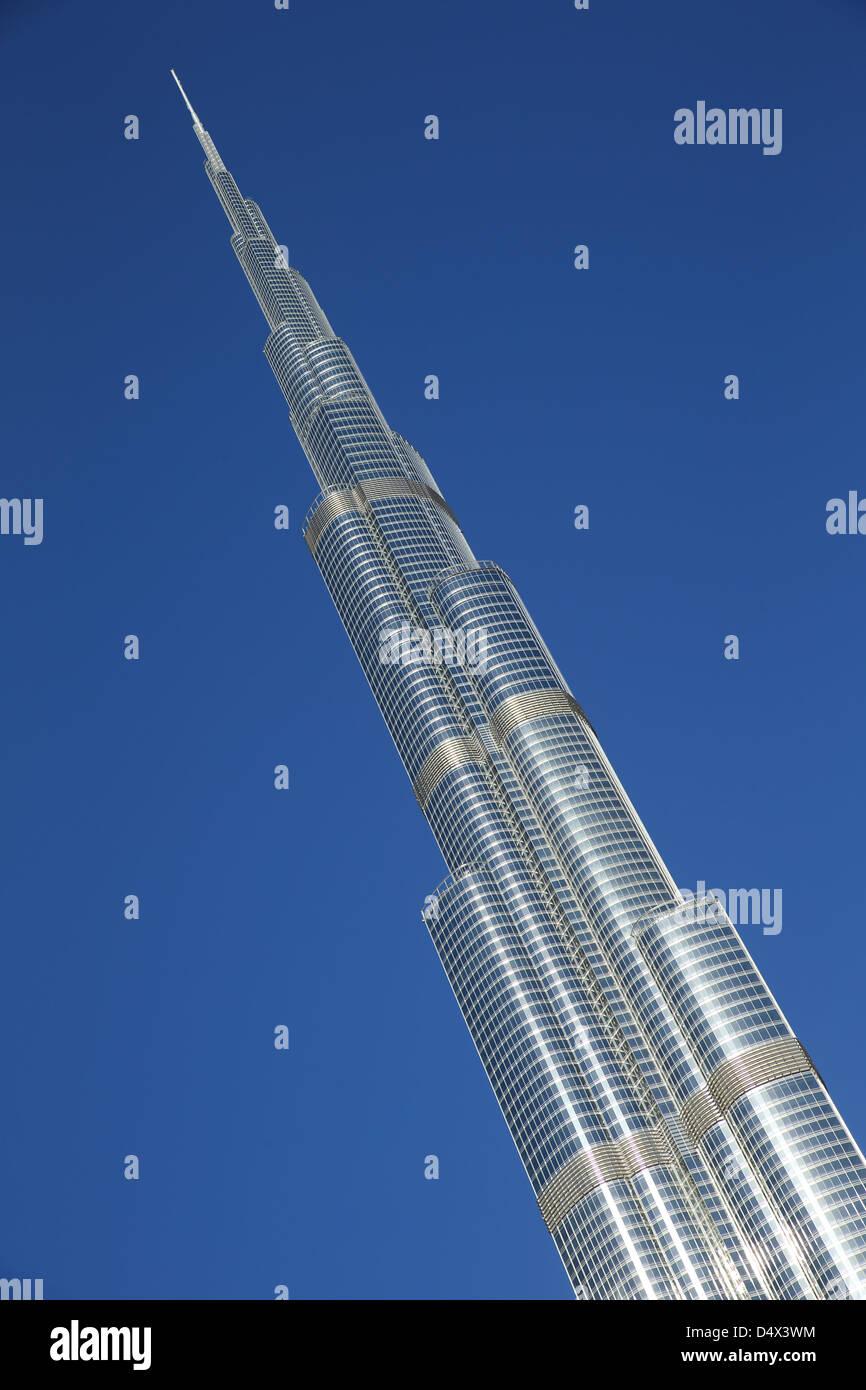 Burj Khalifa, le plus haut bâtiment du monde à Dubaï, Émirats Arabes Unis Photo Stock