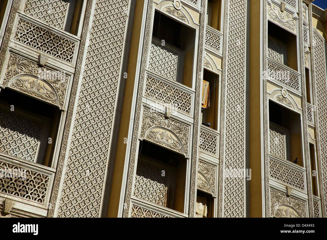 Détail architectural, Dubaï, Émirats Arabes Unis Photo Stock