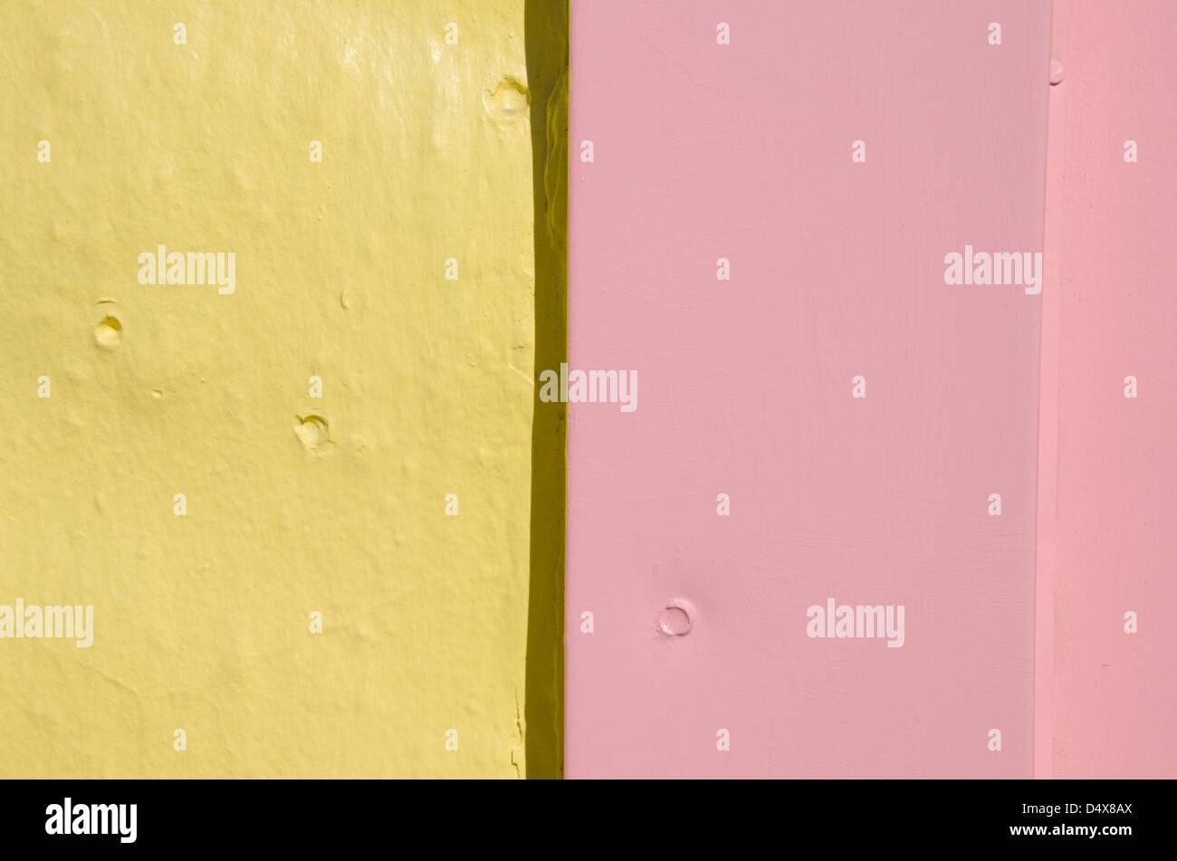 Rose Et Jaune Pastel Mur Peint En Arriere Plan Plage Mignon Ville De