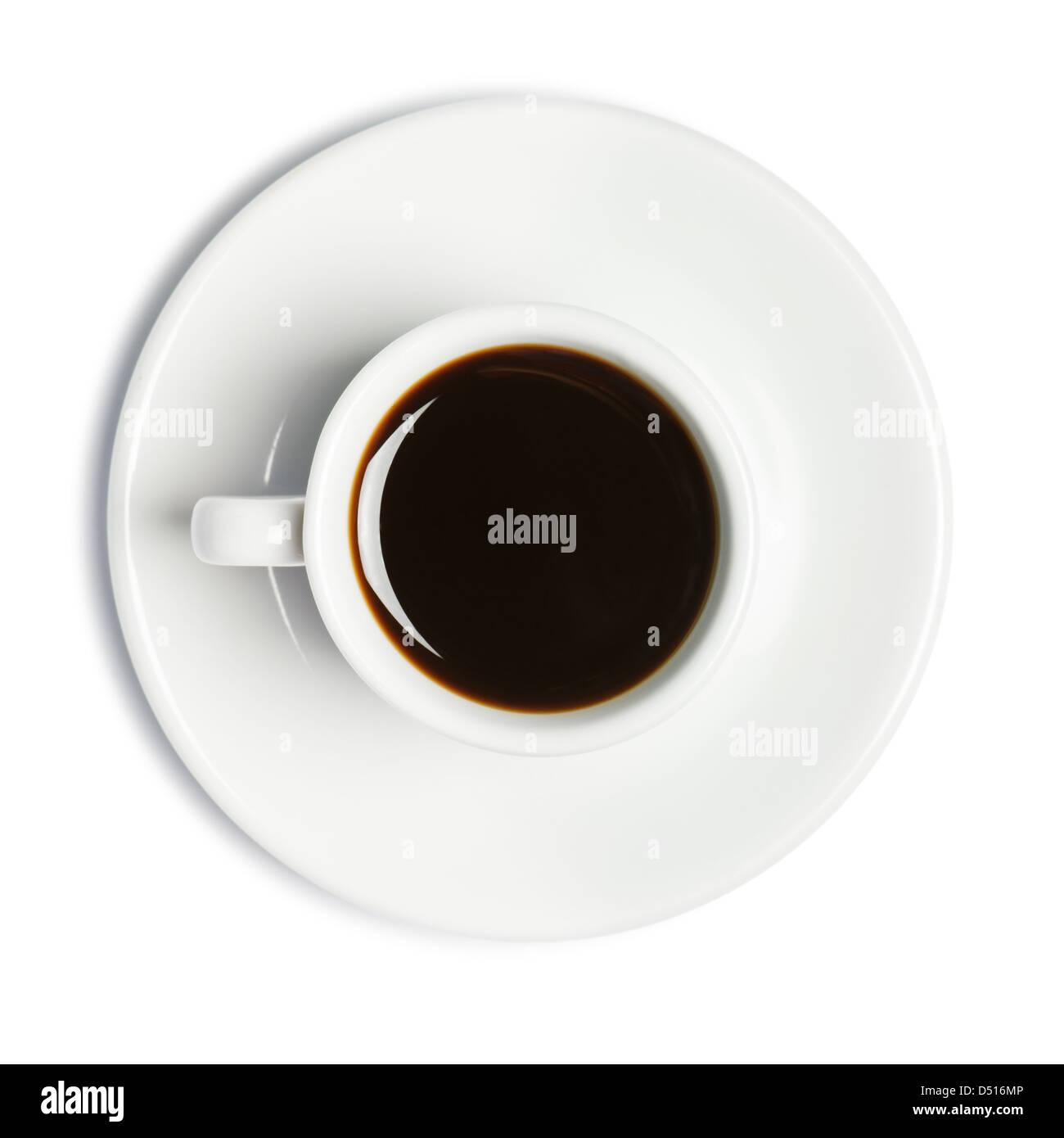 Tasse de café isolated on white Photo Stock