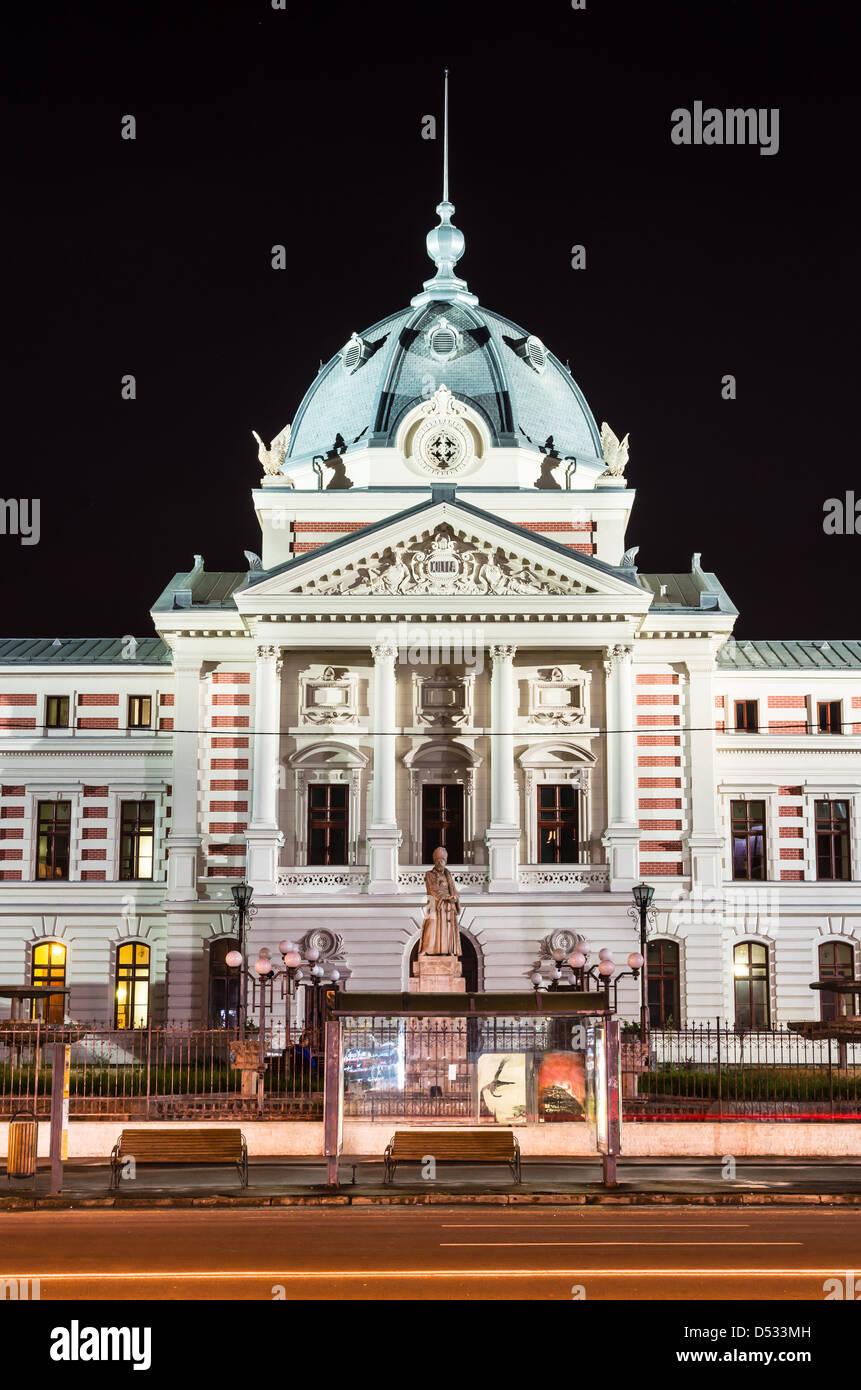 Ancien Hôpital Coltea avec l'architecture de Bucarest, du XVII siècle. Historique roumaine. Photo Stock