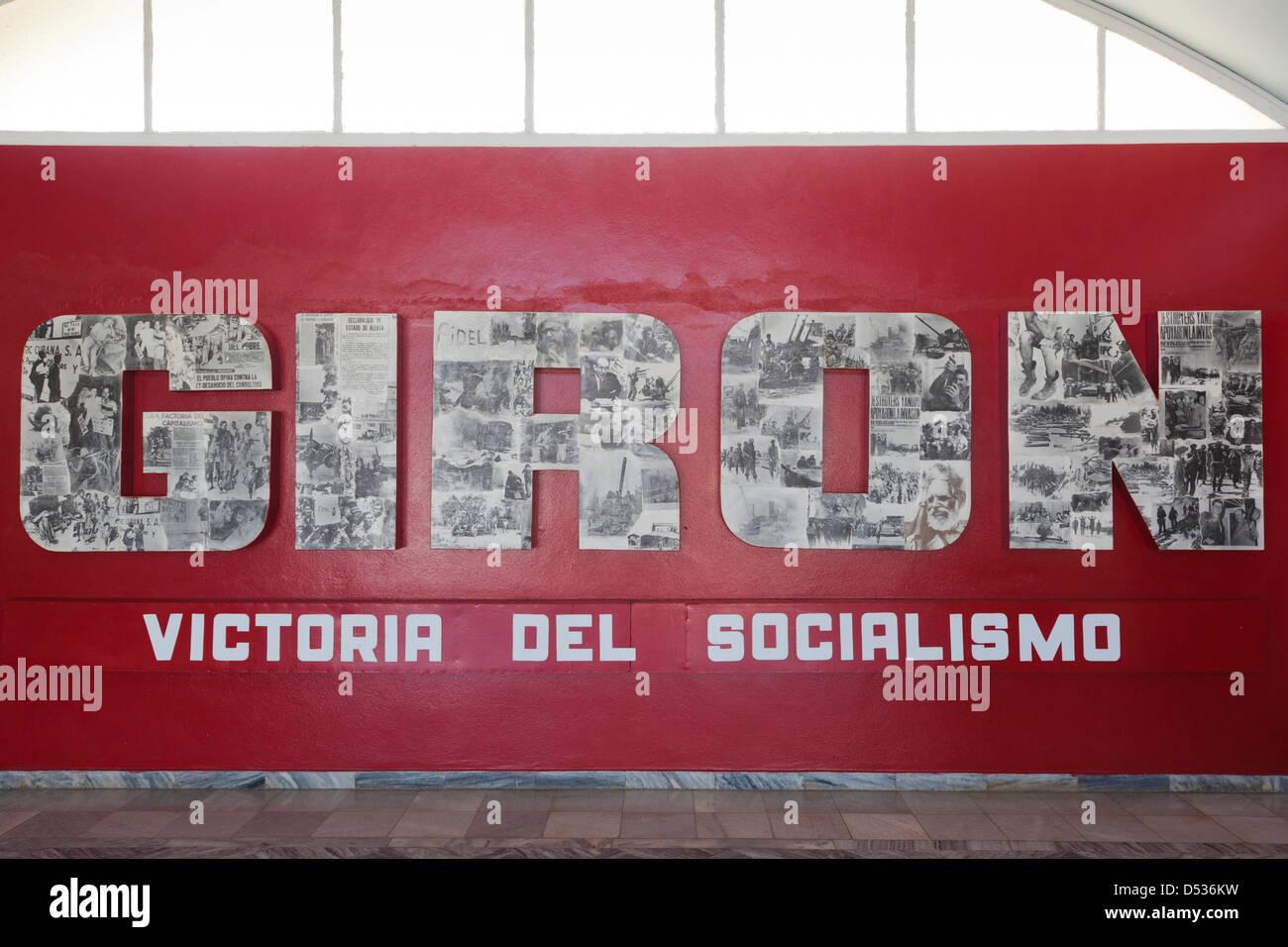 Cuba, province de Matanzas, Playa Giron, Museo de Playa Giron, musée de l'US-led 1961 CIA, l'invasion de la Baie Banque D'Images