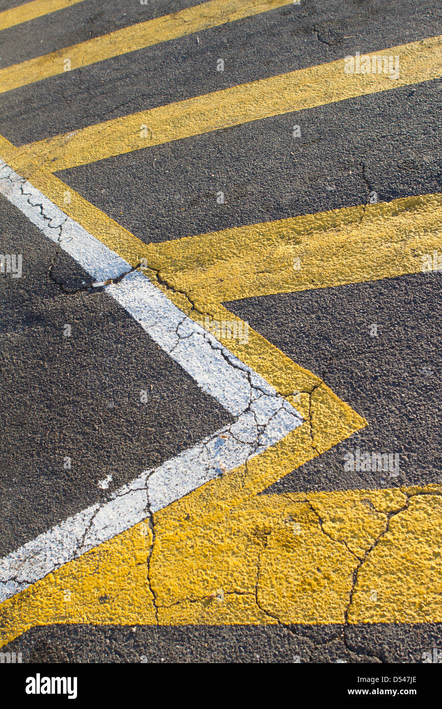 Parking marquage routier. Photo Stock