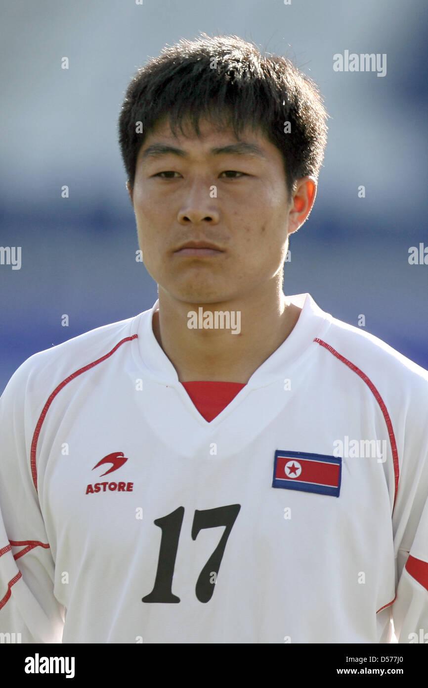La RPD de Corée Choe Kum-Chol en photo avant le match amical contre l'Afrique du Sud à la RPD de Corée Photo Stock
