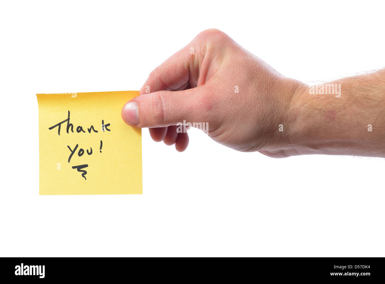 Post-it vous dire merci isolated on white Photo Stock