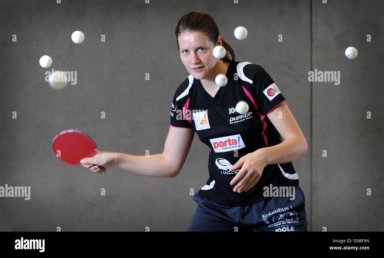 Berlin, Allemagne, joueur de tennis de table Ivancan Irene Photo Stock